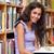 jungen · Studenten · halten · Buch · Bibliothek · Frau - stock foto © wavebreak_media