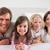 család · ágy · együtt · arc · szeretet · boldog - stock fotó © wavebreak_media