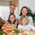 happy family making sandwiches together stock photo © wavebreak_media