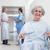 starszych · pacjenta · korytarz · szpitala · kobieta · kobiet - zdjęcia stock © wavebreak_media