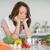 cuoco · bella · giovani · bruna · donna · cibo · sano - foto d'archivio © wavebreak_media
