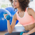 young woman exercising with dumbbells in gym stock photo © wavebreak_media