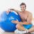 sem · camisa · homem · fitness · bola · ginásio - foto stock © wavebreak_media
