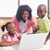 cute siblings using laptop together with mother stock photo © wavebreak_media