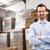 empresário · em · pé · armazém · negócio - foto stock © wavebreak_media