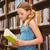 peu · fille · lecture · livre · haut - photo stock © wavebreak_media