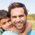 vader · zoon · platteland · gelukkig · kind · portret - stockfoto © wavebreak_media
