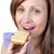 女性 · 食べ · チーズ · 孤立した · 白 - ストックフォト © wavebreak_media