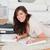 小さな · 格好良い · 女性 · 書く · ノートブック · カーペット - ストックフォト © wavebreak_media