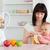 alegre · mulher · jovem · banana · sessão · cozinha - foto stock © wavebreak_media