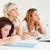 studenten · vergadering · tabel · klasse · vrouwen · schoonheid - stockfoto © wavebreak_media