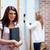 Student standing up with her binder in a corridor stock photo © wavebreak_media