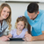 Family using digital tablet at table stock photo © wavebreak_media