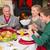 tafel · christmas · man · voedsel · tabel · diner - stockfoto © wavebreak_media