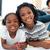 gelukkig · broers · en · zussen · tekening · vloer · ouders · familie - stockfoto © wavebreak_media