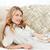 wonderful woman lying down on her sofa at home stock photo © wavebreak_media