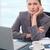 肖像 · 深刻 · 女性実業家 · 作業 · ノートブック · オフィス - ストックフォト © wavebreak_media