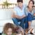 Porträt · Kinder · Tablet-Computer · Eltern · beobachten · Wohnzimmer - stock foto © wavebreak_media