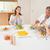 aile · etrafında · akşam · yemeği · gülümseme · erkek · gülen - stok fotoğraf © wavebreak_media