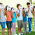 friends holding smileys in front of faces stock photo © wavebreak_media