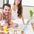 aandachtig · man · ontbijt · vriendin · bed · home - stockfoto © wavebreak_media
