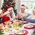 multi generation family in santa hat toasting each other stock photo © wavebreak_media