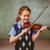 cute little girl playing violin in classroom stock photo © wavebreak_media