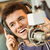 retrato · de · audio · estudio · radio · feliz - foto stock © wavebreak_media