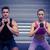 Muscular couple exercising with kettlebells stock photo © wavebreak_media
