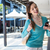 brunette sending a text in the mall stock photo © wavebreak_media