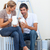 lovers relaxing while renovating their new house stock photo © wavebreak_media