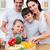 портрет · счастливым · родителей · приготовления · детей · кухне - Сток-фото © wavebreak_media