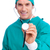 retrato · entusiasta · cirurgião · estetoscópio · branco - foto stock © wavebreak_media