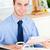 ビジネスマン · ラップトップを使用して · 飲料 · コーヒー · キッチン · ビジネス - ストックフォト © wavebreak_media