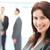 mujer · de · negocios · posando · equipo · hablar · negocios - foto stock © wavebreak_media