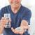 beteg · férfi · elvesz · tabletták · otthon · személy - stock fotó © wavebreak_media