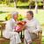 Senior · Mann · bietet · Blumen · Ehefrau · Frau - stock foto © wavebreak_media