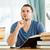 mężczyzna · student · myśli · książki · książek · pióro - zdjęcia stock © wavebreak_media