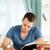 mannelijke · student · werken · papier · school · appel - stockfoto © wavebreak_media