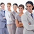 Big close-up of a business team in a single line looking towards the left side with focus on the fir stock photo © wavebreak_media