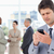 ernst · Manager · Text · Handy · Büro - stock foto © wavebreak_media