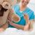 boldog · nővér · tart · plüssmaci · kórház · orvosi - stock fotó © wavebreak_media