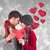 composite image of couple holding a red heart stock photo © wavebreak_media