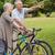 senior couple on cycle ride in countryside stock photo © wavebreak_media