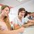 studentów · rząd · uczelni · szczęśliwy · student - zdjęcia stock © wavebreak_media