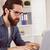 zakenman · werken · laptop · kantoor · computer - stockfoto © wavebreak_media
