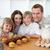 mutlu · aile · mutfak · ev · kız - stok fotoğraf © wavebreak_media