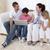 portre · mutlu · aile · dizüstü · bilgisayar · kullanıyorsanız · oturma · odası · ev · kadın - stok fotoğraf © wavebreak_media