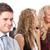 drie · mensen · call · center · drie · werken · business · kantoor - stockfoto © wavebreak_media