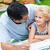 папу · дочь · домашнее · задание · саду · вместе · семьи - Сток-фото © wavebreak_media